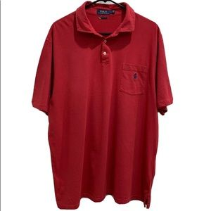 Polo by Ralph Lauren Classic Fit Red Polo Shirt XL